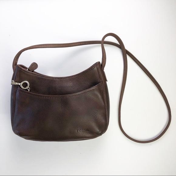 0e601afe9cd9c5 Fossil Handbags - Fossil Leather Crossbody Purse Shoulder Bag